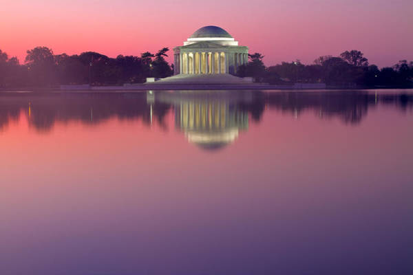 Photograph - Jefferson Memorial At Sunrise 2 by Val Black Russian Tourchin