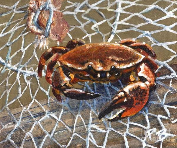 Jekyll Island Painting - Jekyll Stone Crab by Pat Burns