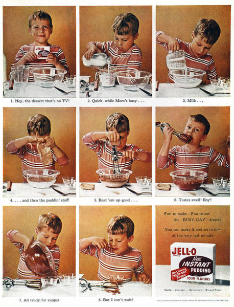 Wall Art - Photograph - Jell-o Pudding Ad, 1955 by Granger