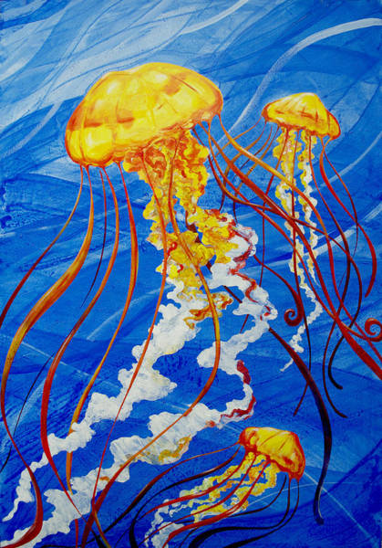 Painting - Jellyfish by John Gibbs