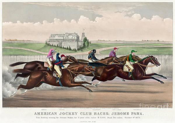 Photograph - Jerome Park Horse Race, 1873 by Granger