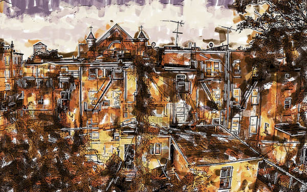 Painting - Jersey City Neighborhood by Dean Wittle