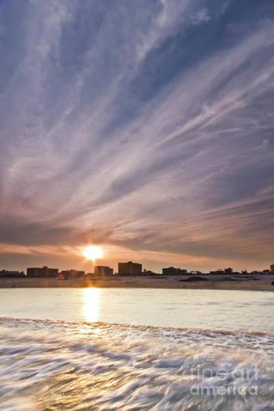 Jersey Shore Photograph - Jersey Shore Wildwood Crest Sunset by Dustin K Ryan