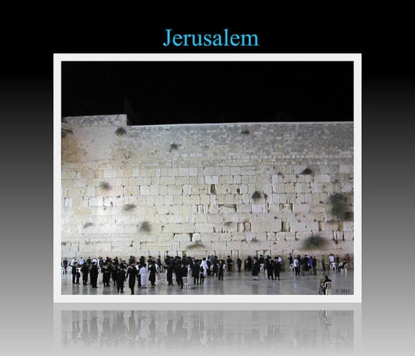 Photograph - Jerusalem Israel Western Wall Iv by John Shiron