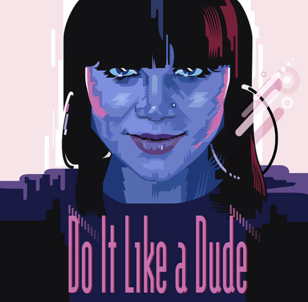 Wall Art - Painting - Jessi J Do It Like A Dude by Garth Glazier