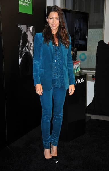 Tight Pants Photograph - Jessica Biel Wearing A Gucci Suit by Everett