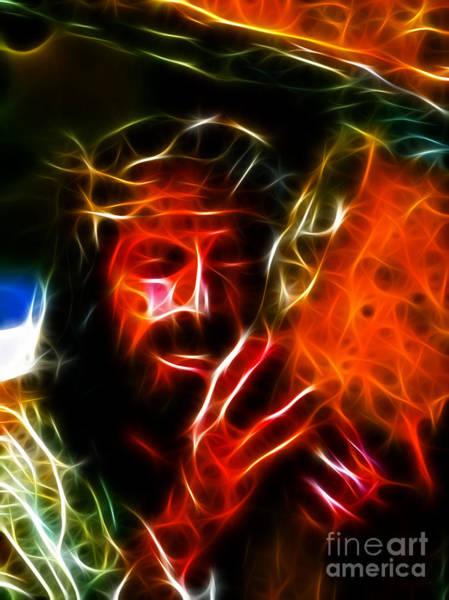 Wall Art - Mixed Media - Jesus Carrying The Cross No2 by Pamela Johnson