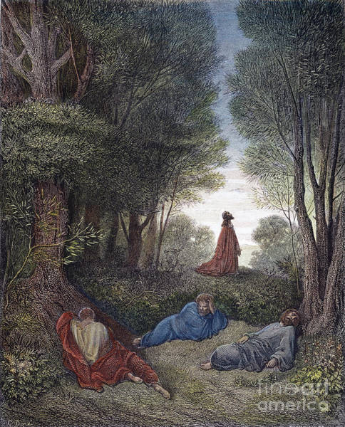 Wall Art - Drawing - Jesus In Gethsemane by Gustave Dore