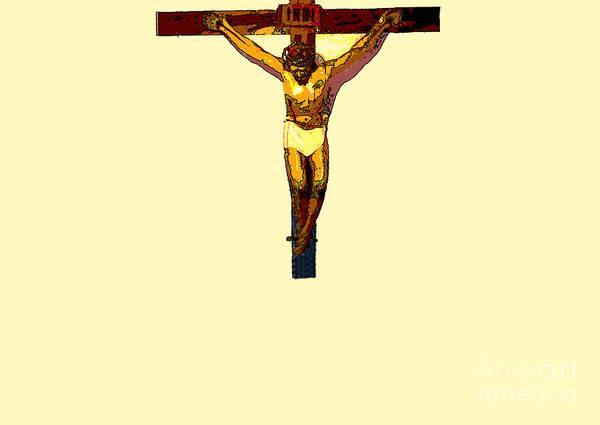 Inri Wall Art - Photograph - Jesus On The Cross Poster by Al Bourassa