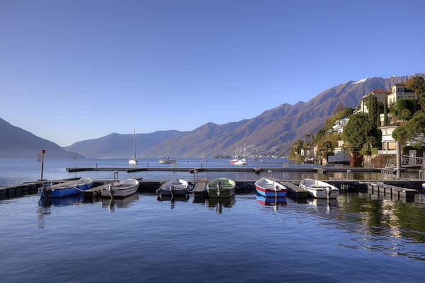 Motor Boat Photograph - jetty in Ascona by Joana Kruse