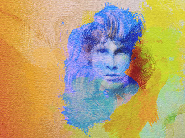 Rolling Stones Painting - Jim Morisson by Naxart Studio