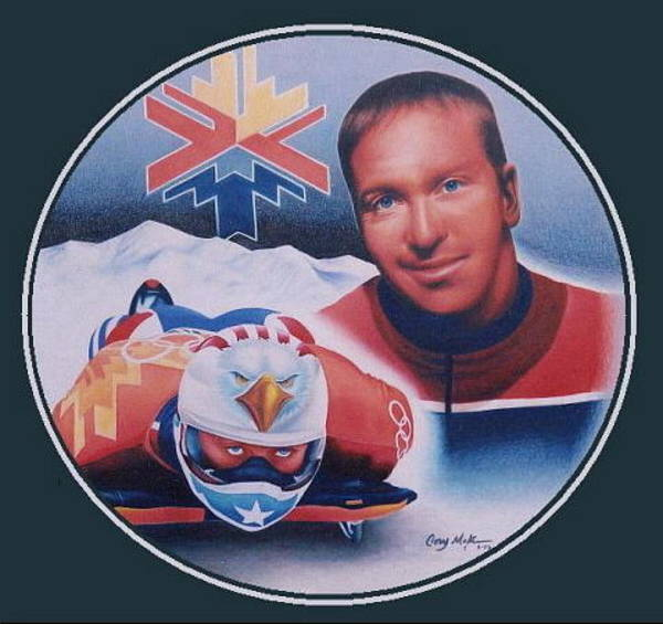Gold Medal Drawing - Jim Shea by Cory McKee