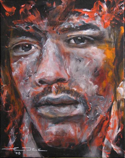 Painting - Jimi Hendrix - Manic Depression by Eric Dee