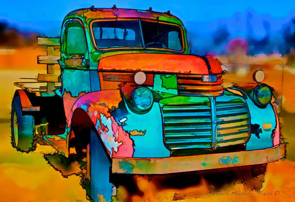 Digital Art - Jimmy In Taos II by Charles Muhle