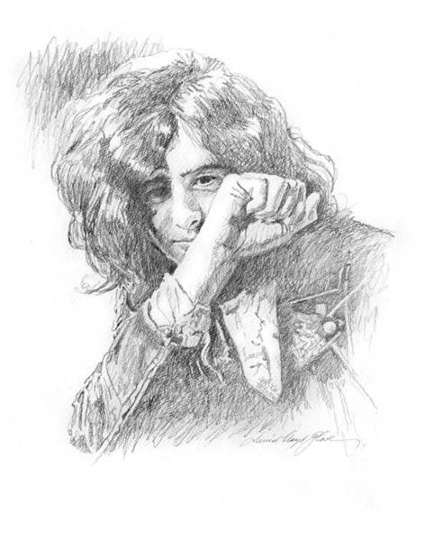 Drawing - Jimmy Page In Person by David Lloyd Glover