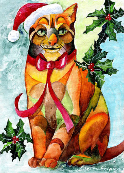 Painting - Jingle Cat by Sherry Shipley