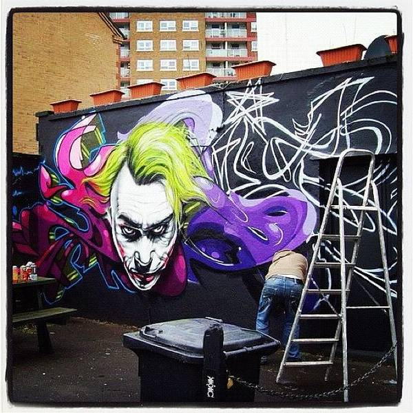 Superhero Wall Art - Photograph - #jody#flx#bristolgraffiti #bristolart by Nigel Brown