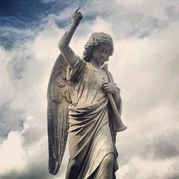 Death Wall Art - Photograph - #joe #cemetery #angels #religion by Joe Mitchell