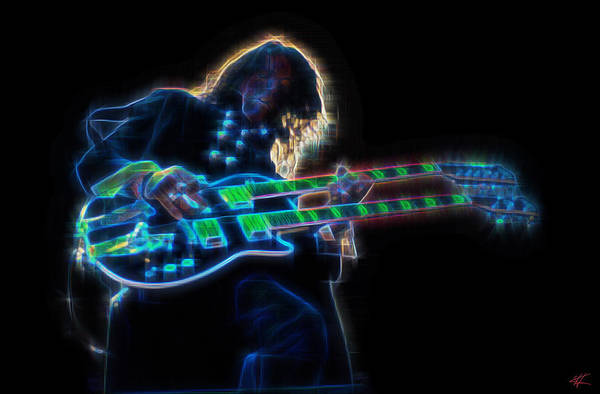 Digital Art - Joe Perry by Kenneth Armand Johnson