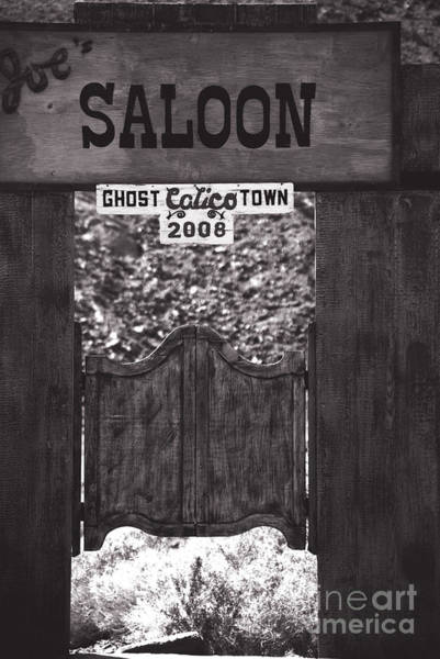Wall Art - Photograph - Joes Saloon In Calico Ghost Town California by Susanne Van Hulst