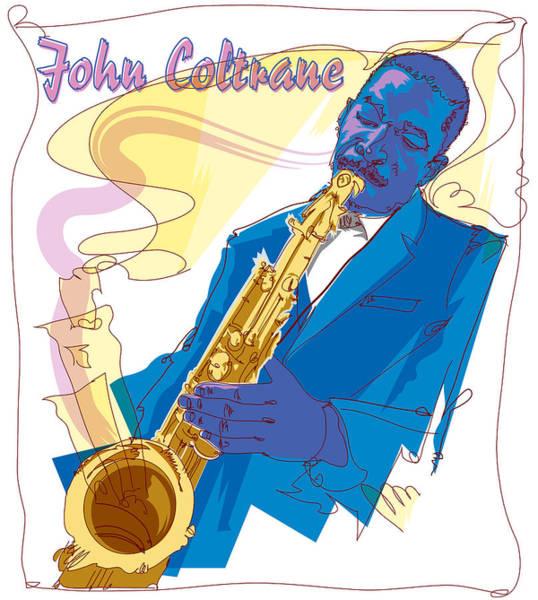 John Coltrane Wall Art - Painting - John Coltrane 1 by Garth Glazier