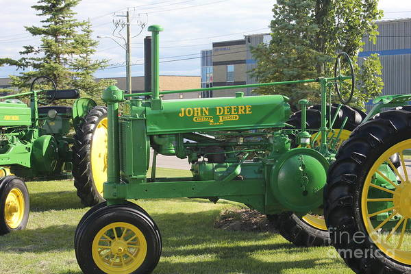 Photograph - John Deere Tractor by Donna L Munro
