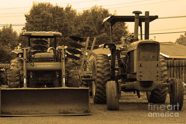 Photograph - John Deere Tractors by Wingsdomain Art and Photography