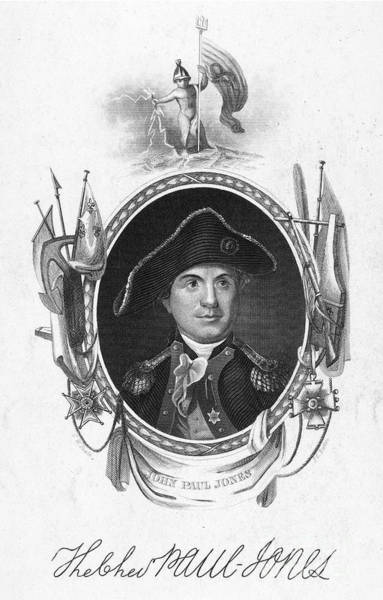 John Paul Jones Photograph - John Paul Jones (1747-1792). American Naval Commander. Steel Engraving, 19th Century by Granger