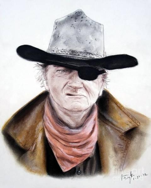 Wall Art - Pastel - John Wayne  by Jim Fitzpatrick