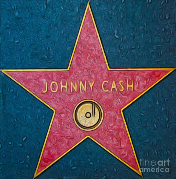 Painting - Johnny Cash Star by Gregory Dyer