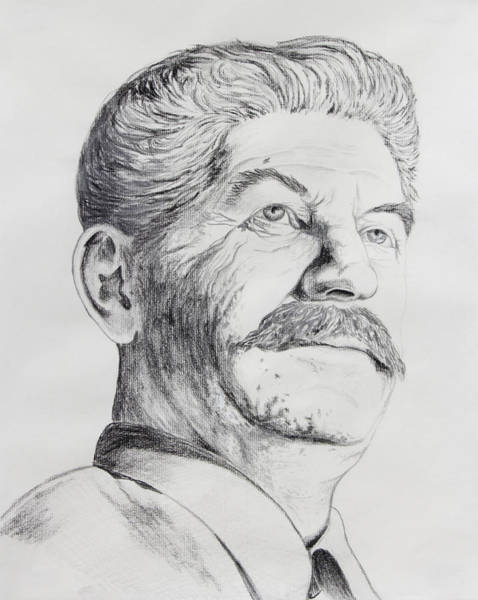 Ukraine Drawing - Joseph Stalin by Daniel Young