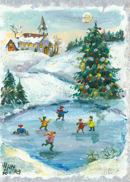 Wall Art - Painting - Joyful Christmas by Elisabeta Hermann