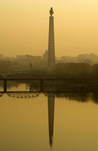 Wall Art - Photograph - Juche Tower And The Taedong River by Mark Harris