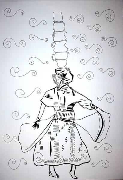 Drawing - Jug Dance - Tunisia by Gloria Ssali