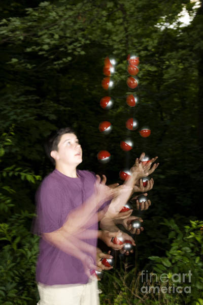 Juggler Photograph - Juggling Balls by Ted Kinsman
