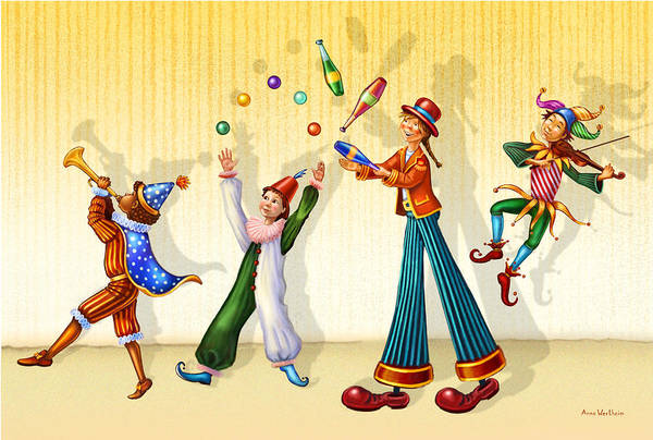 Mixed Media - Juggling Company by Anne Wertheim