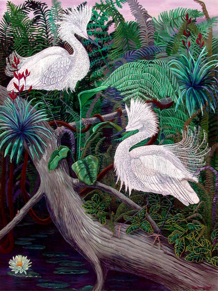 Rain Forest Painting - Jungle Dance by Lyn Cook