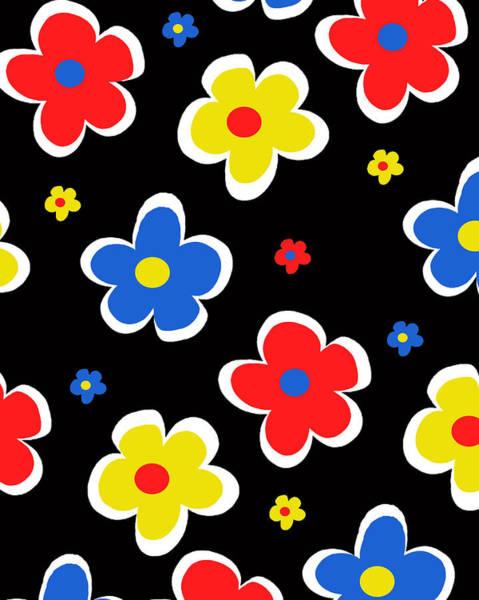Poppies Digital Art - Junior Florals by Louisa Knight