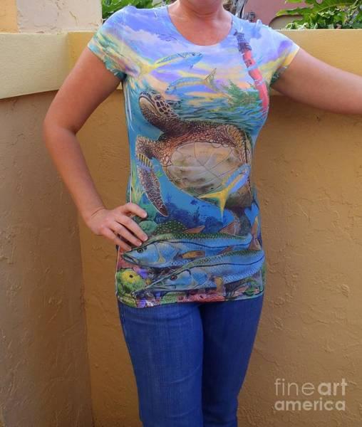 Chen Digital Art - Jupiter Performance Ladies Shirt by Carey Chen