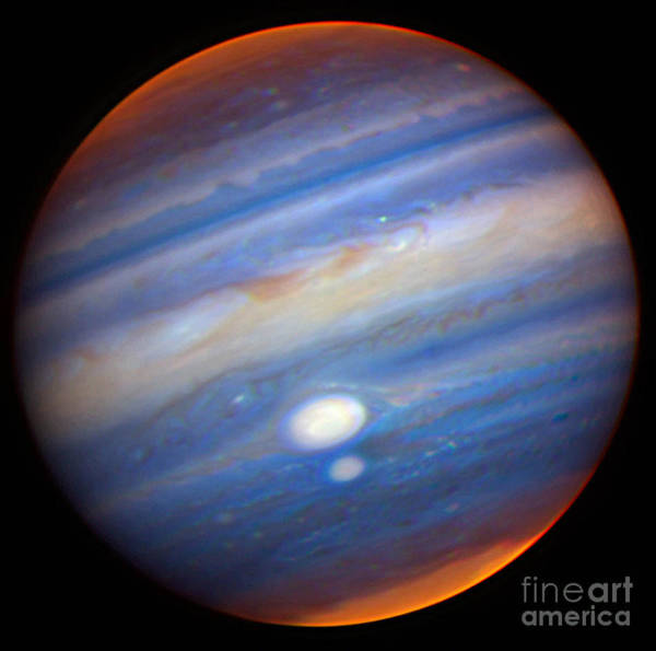 Photograph - Jupiters Red Spots by Gemini Observatory  NSF
