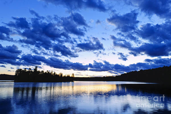 Algonquin Photograph - Just Before Nightfall by Elena Elisseeva