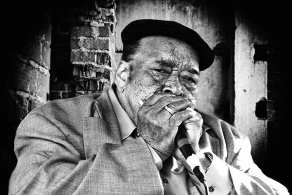 Harmonica Photograph - Just The Blues by Kenneth Mucke