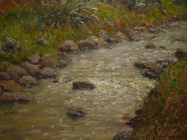 Nz.impressionist Painting - Kaikorai Stream After Rain by Terry Perham