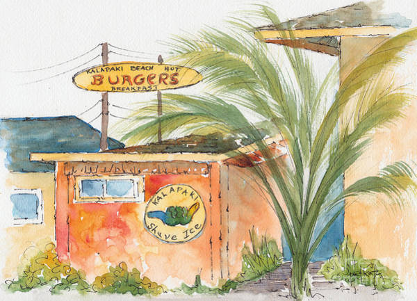 Painting - Kalapaki Beach Hut by Pat Katz