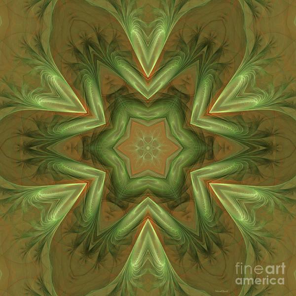 Digital Art - Kaleid Flower by Deborah Benoit