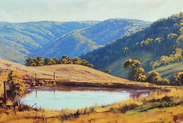 Dam Wall Art - Painting - Kanimbla Valley Dam by Graham Gercken