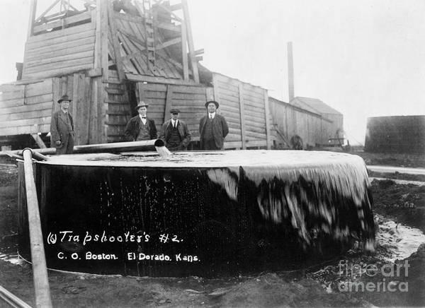 Photograph - Kansas: Oil Well, C1917 by Granger
