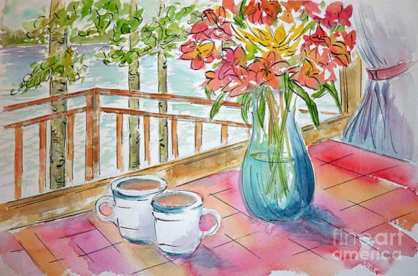 Painting - Kapasiwin Coffee by Pat Katz