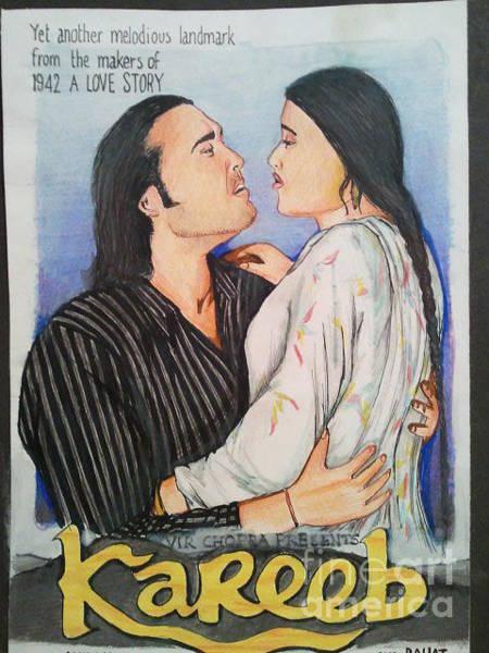 Bollywood Wall Art - Drawing - Kareeb by San Art Studio