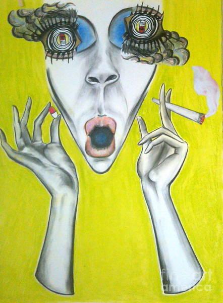 Cut-out Mixed Media - Karma Pill Album Artwork  by Tara Dente